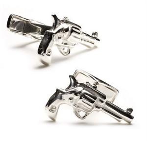 Sterling Revolver Cufflinks