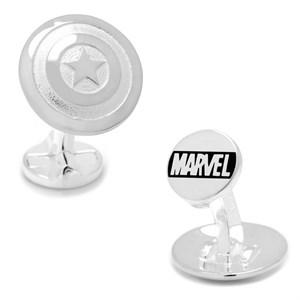 Sterling Silver 3D Captain America Shield Cufflinks