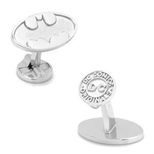 Sterling Silver Batman Logo Cufflinks