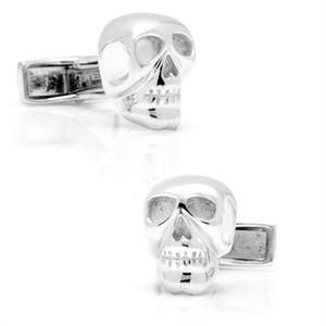 Sterling Skull Cufflinks