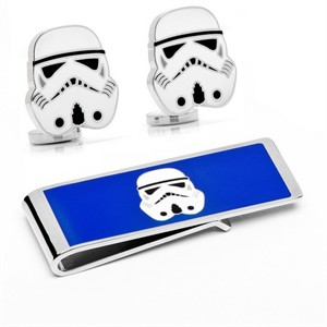 Storm Trooper Head Cufflinks and Money Clip Gift S