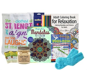 Stress Reducing Coloring Gift Tote