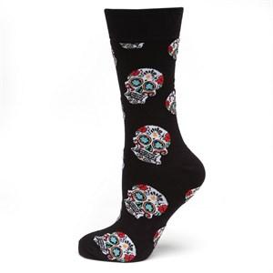Sugar Skull Black Socks