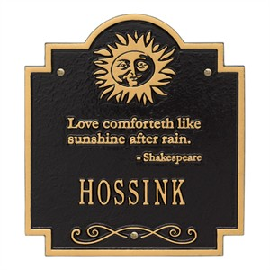 Personalized Sun Poem Wall Plaque