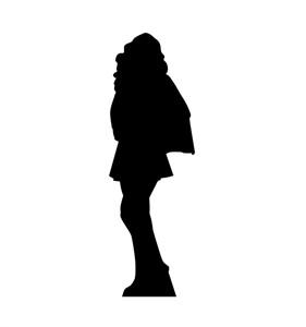 Superhero Girl Silhouette Cardboard Cutout