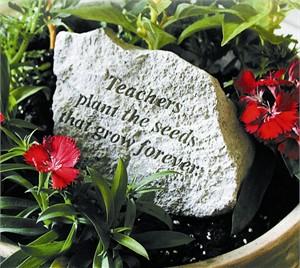 Teachers plant the seeds that grow…