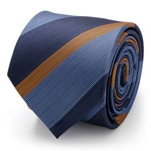 The Andrew Tie (Blue Orange Stripe Men's Tie)