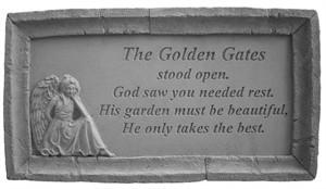 The Golden Gates...Framed Memorial Stone
