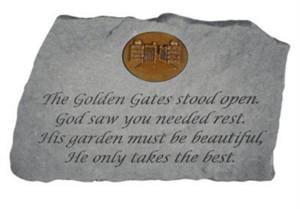The Golden Gates…w Gates of Heaven Memorial Stone