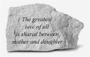 The greatest love of all is shared… Engraved Stone