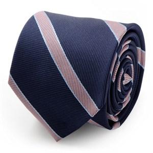 The Travis Tie (Navy Pink Stripe Men's Tie)
