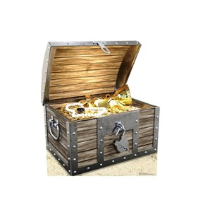 Treasure Chest Cardboard Cutout