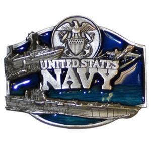 U.S. Navy Enameled Belt Buckle