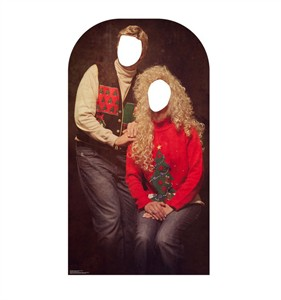 Ugly Christmas Sweater Portrait Stand-in Cardboard Cutout