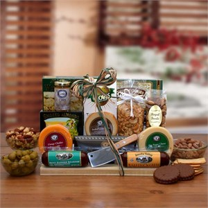 Ultimate Gourmet Nut & Sausage Board