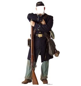Union Civil War Soldier Standin Cardboard Cutout
