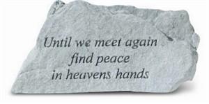 Until we meet again find peace... Memorial Stone