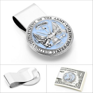 US Army Pewter Money Clip