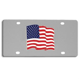 US Flag Logo License Plate