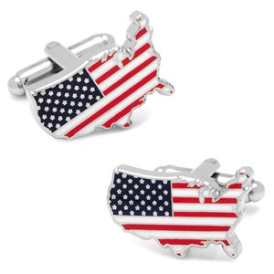 USA Stars and Stripes Cufflinks