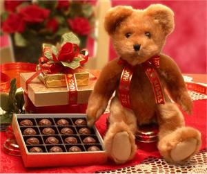 Valentine's Day Teddy Bear Gift Set