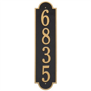Personalized Vertical Large Address Plaque - 1 Line
