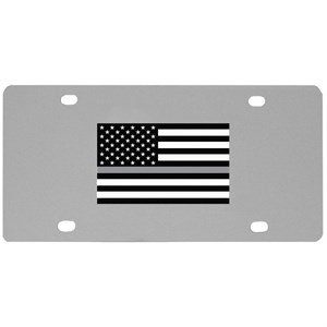 Veteran Thin Gray Line License Plate Wall Plaque