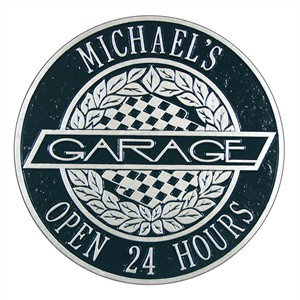Personalized Victory Lane Garage Plaque