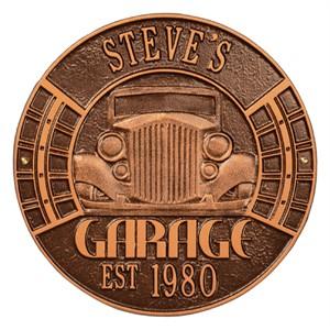 Personalized Vintage Car Garage Plaque - Two Line