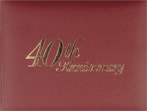 40th Anniversary Guestbook