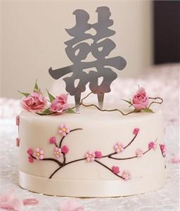 "4"" Monogram Asian Double Happiness Wedding Decoration Symbols"