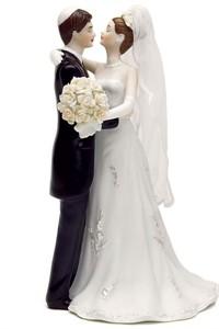 Traditional Jewish Bride & Groom Wedding Cake Top