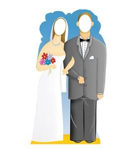 Wedding Couple Stand-In Cardboard Cutout