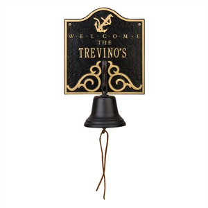 Personalized Welcome Anchor Bell Plaque