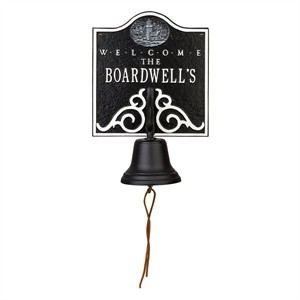 Personalized Welcome Lighthouse Bell Plaque