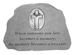 When someone…with Oval Cross Memorial Stone