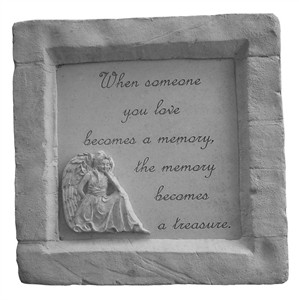 When someone you love...Framed Memorial Stone