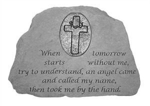 When tomorrow...with Oval Cross  Memorial Stone