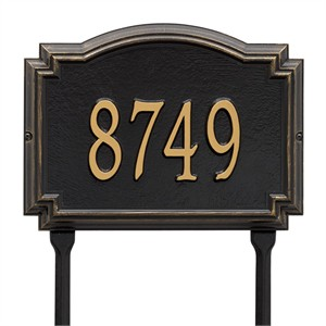 Personalized Williamsburg Address Lawn Plaque - 1 Line