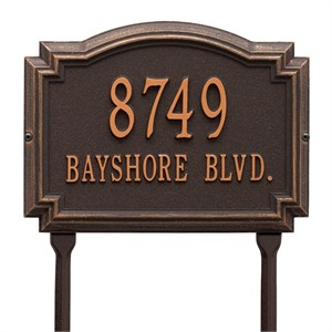 Personalized Williamsburg Address Lawn Plaque - 2 Line