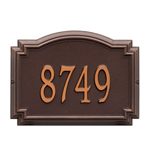 Personalized Williamsburg Address Plaque - 1 Line