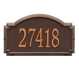 Personalized Williamsburg Large Address Plaque - 1 Line