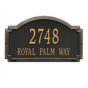 Personalized Williamsburg Large Address Plaque - 2 Line