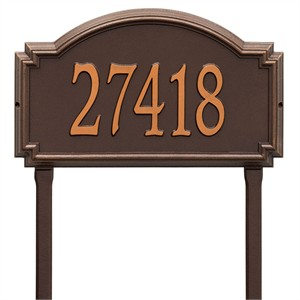 Personalized Williamsburg Large Lawn Address Plaque - 1 Line