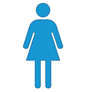 Woman Symbol Cardboard Cutout