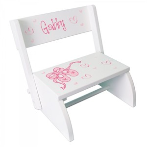Personalized Child's Wooden Flip Stool