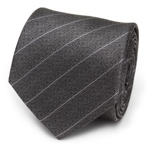 Woven Gray Stripe Men's Tie