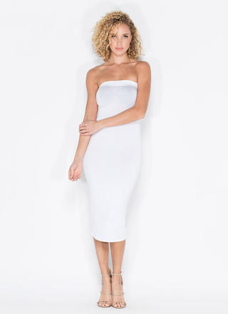 Keep It Simple Tube Midi Dress
