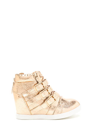 Bold 'N Buckled Sneaker Wedges