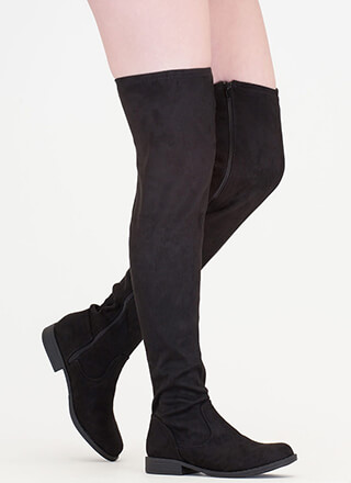 Over-The-Knee 'N Out Faux Suede Boots